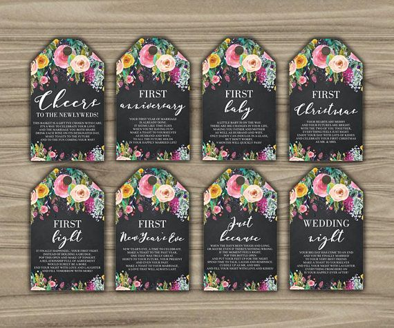 Wine Firsts Wedding Gift: WEDDING MILESTONE TAGS / WEDDING GIFT FOR COUPLE / BRIDAL