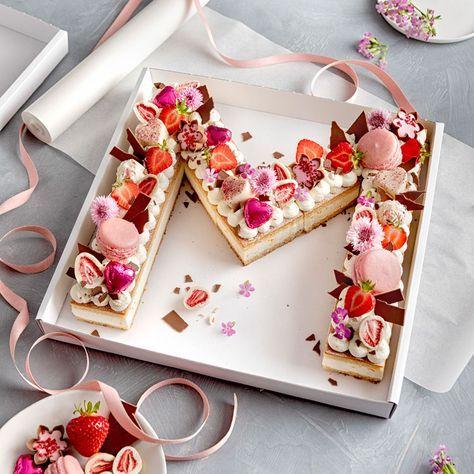 Letter Cake – einfach, hübsch und trendy!   – Torten