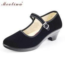 Женская Обувь На Каблуках Мэри Джейн Черные Каблуки Танец Дешевые Обувь женщины Низкий Каблук Насосы Ремень Клинья Черный Размер 34-40 2G-000A(China (Mainland))