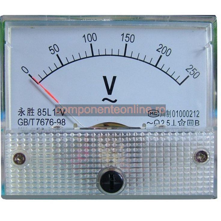 Ampermetru analogic de panou, 50A DC - 178152