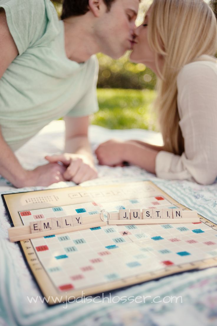 Scrabble engagement picture! Luke is obsessed with board games!