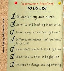 Superwoman Redefined To Do List