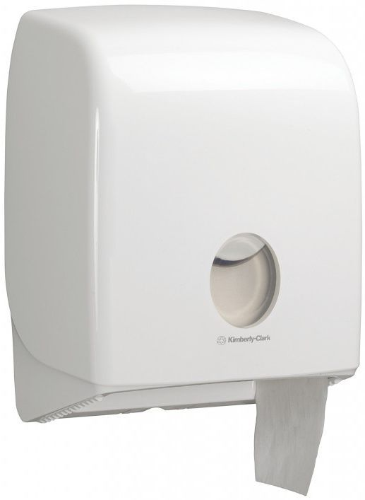 Dispenser Aquarius Kimberly-Clark, alb pentru hartie igienica mini jumbo KC-6958.