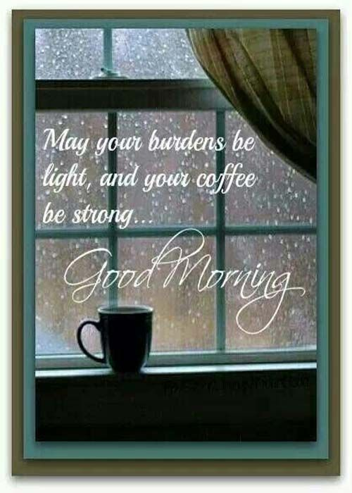 """Good Morning! Cold,rainy morning here. """" ...Behind the clouds is the sun still shining, Thy fate is the common fate of all, into each life, some rain must fall.."""" - HenryWadsworthLongfellow. Enjoy your day, the sun is always shining..."""