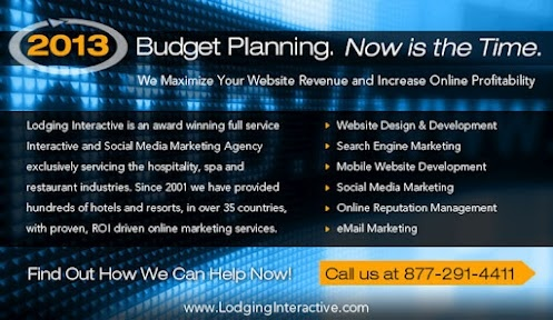 """2013 budgeting """"musts"""" for your hotel. If you haven't read this yet, worth the time. http://lodginginteractive.com/press20120814-Lodging-Interactive-s-Top-5-Budget-Items-for-2013.shtml"""