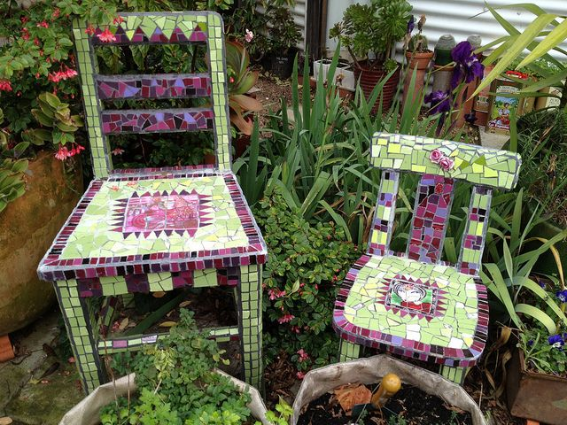 Garden Furniture Mosaic 106 best mosaic chairs, benches ans sofas images on pinterest