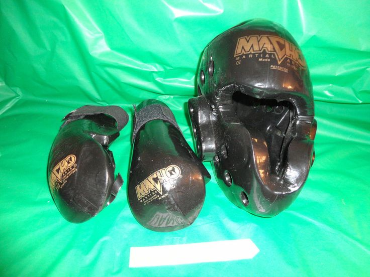 Kids Martial Arts Protective Gear MACHO Head Gear and sparring gloves find me at www.dandeepop.com