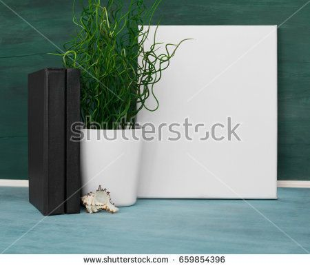 Mockup poster. Blank canvas template for your design.