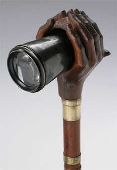 Antique walking cane with Telescope made in 1920