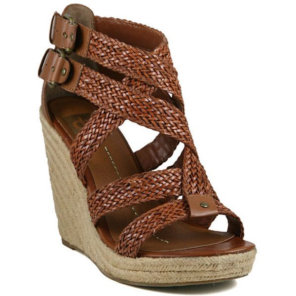 Dolce Vita Stella Wedges in Cognac found on Polyvore