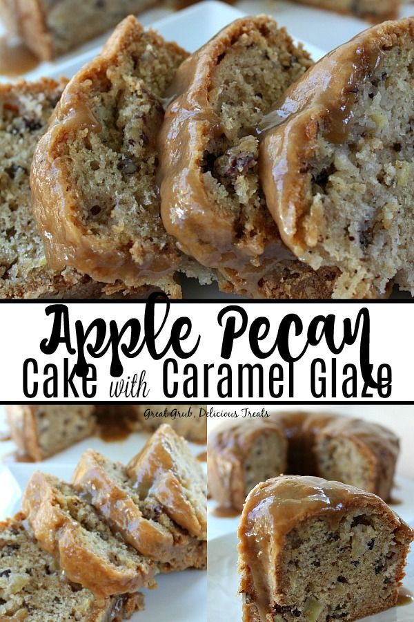 Apple Pecan Cake with Caramel Glaze is a delicious…
