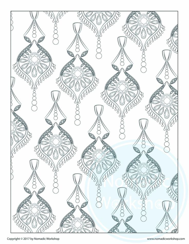 Coloring Page2 1 FREE Page Calming Jewels Jewelry Art