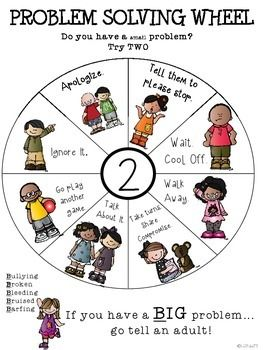Problem Solving Wheel. Such a great thing to hang up in the room.
