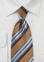 Kravatte weiches Streifendesign kastanienbraun günstig kaufen