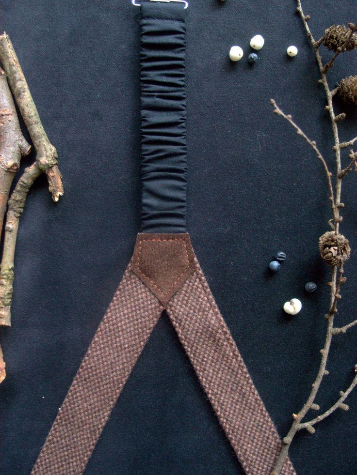 Brown Mens Suspenders,Textile Suspenders,Woolen Suspenders,Belts&Suspenders,gift for him by baboshkaa on Etsy