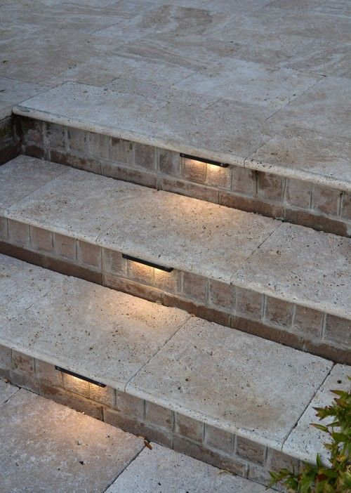 Very Cool Step Lights Outdoor Stair Lighting Outdoor