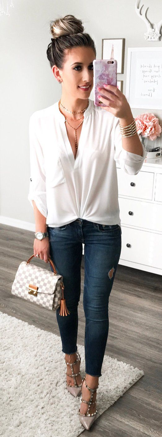 #summer #outfits  Casual Chic For Girls Night!✔️ Pretty Sure I'll Be Living In This Top--it's On Sale For ONLY $27 Right Now! I Want It In Every Color!