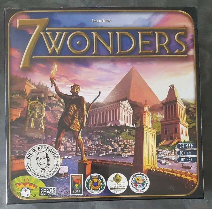 7 WONDERS Award-Winning Board Game Lead Great City Ancient World Military NEW  #ReposProduction