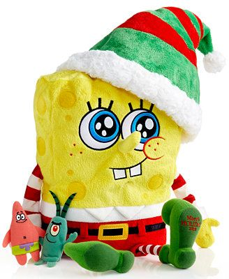 2014 Macy's Thanksgiving Day Parade Holiday SpongeBob SquarePants Toy with Finger Puppets