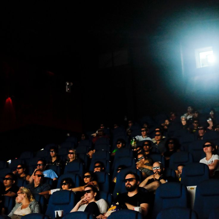 In the summer, when school is out, weeknights at at the Alpine Cinema in Bay Ridge are as busy as weekends. (Photo: Christian Hansen for The New York Times)