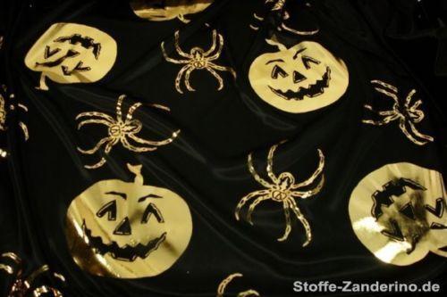 Foliendruck-Halloween-gold-auf-schwarz-ca-112cm