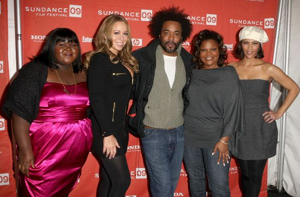 """Mariah Carey Photos - (L-R) Actress Gabourey 'Gabby' Sidibe, singer/actress Mariah Carey, director Lee Daniels, and actresses Mo'Nique and Paula Patton attend the screening of """"Push: Based On The Novel By Sapphire"""" held at the Racquet Club Theatre during the 2009 Sundance Film Festival on January 16, 2009 in Park City, Utah.  (Photo by Jason Merritt/Getty Images) * Local Caption * Mariah Carey;Lee Daniels;Mo'Nique;Paula Patton;Gabourey Sidibe - """"Push"""" - 2009 Sundance Premiere"""