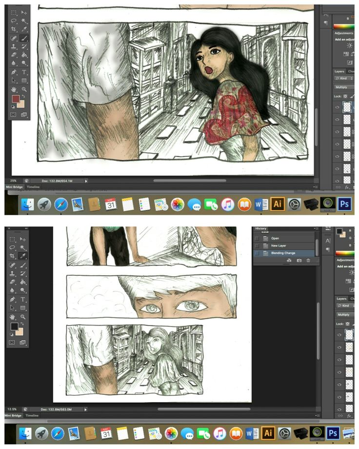 Salah satu 'added value' yang saya tuangkan dalam buku komik pertama saya (sekaligus tugas akhir saya) adalah sketsa asli goresan tangan, buatan saya sendiri + arsirannya. Masih berjuang mewarnai puluhan halaman lainnya.
