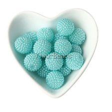 10шт 22мм голубое озеро Жемчужина горный хрусталь мяч для коренастый ювелирные изделия ожерелье Кулон