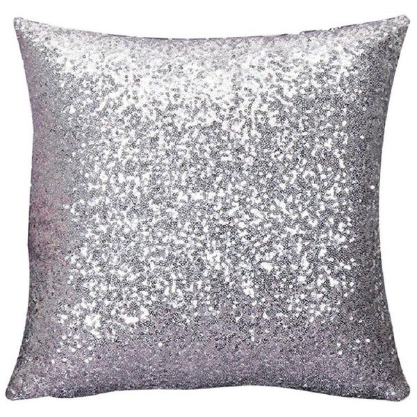 malloom solid color glitter sequins throw pillow case cafe home decor 508 - Grey Throw Pillows
