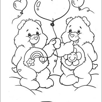 care bear valentines coloring pages - photo#5