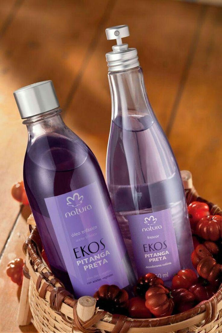 Aceite trifacico corporal y frescor de pitanga preta  Camino olfativo floral, refrescante, hojas de pitanga.