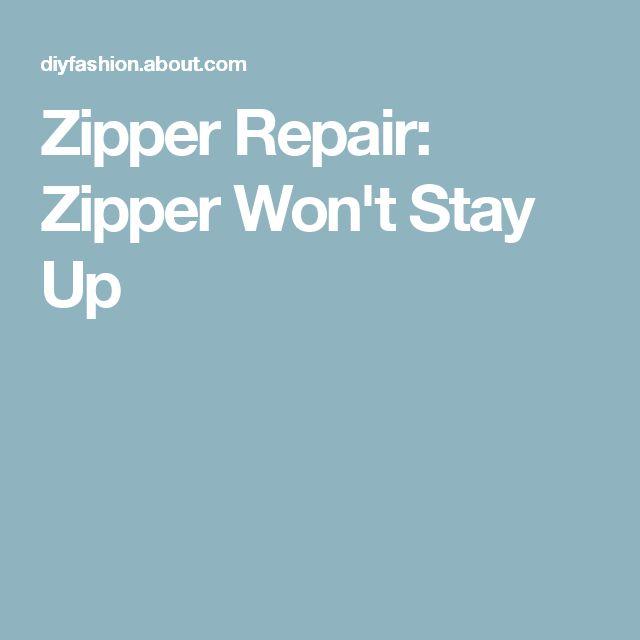 Zipper Repair: Zipper Won't Stay Up