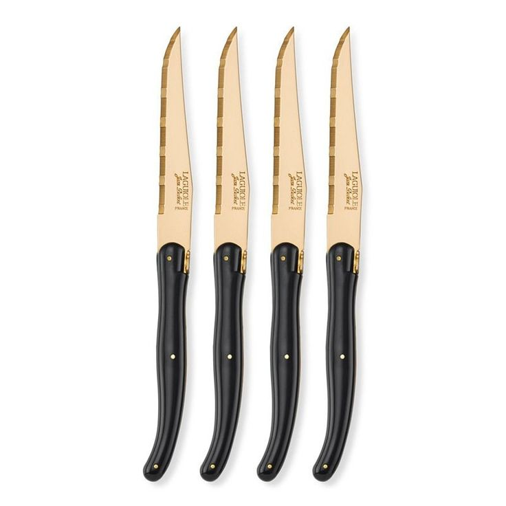 Add some luxury to your table with the Laguiole Jean Dubost Gold Steak Knives from the  sc 1 st  Pinterest & 10 best Gold Cutlery images on Pinterest | Cutlery set Flatware set ...
