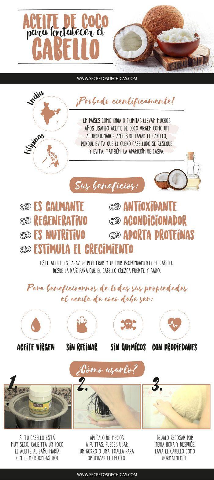 ACEITE DE COCO PARA FORTALECER EL CABELLO