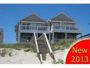 Topsail Island rental: N. Topsail Dr. 826-B - Oceanfront 4 bedroomsduplex in Surf City,