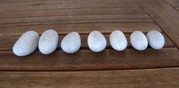 7 Medium Oval Egg StonesBeach StonesOval StonesZen