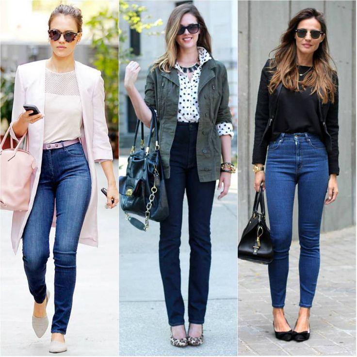 mulher usa calça de cós alto