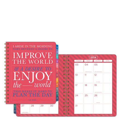 Start each month with a fun and inspirational new quote.