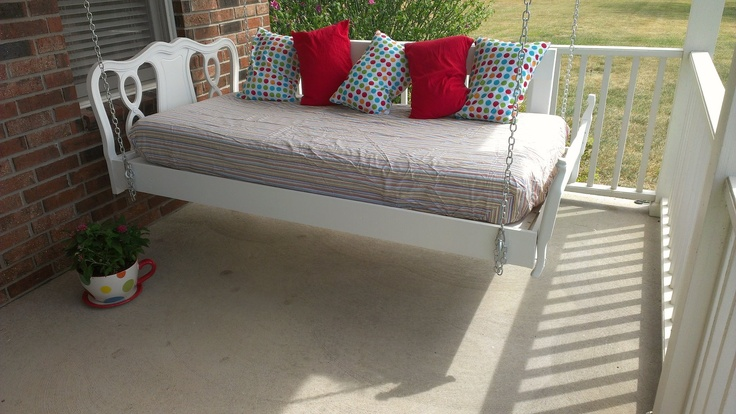 Twin Day Bed Porch Swing Husband Built Frame Used