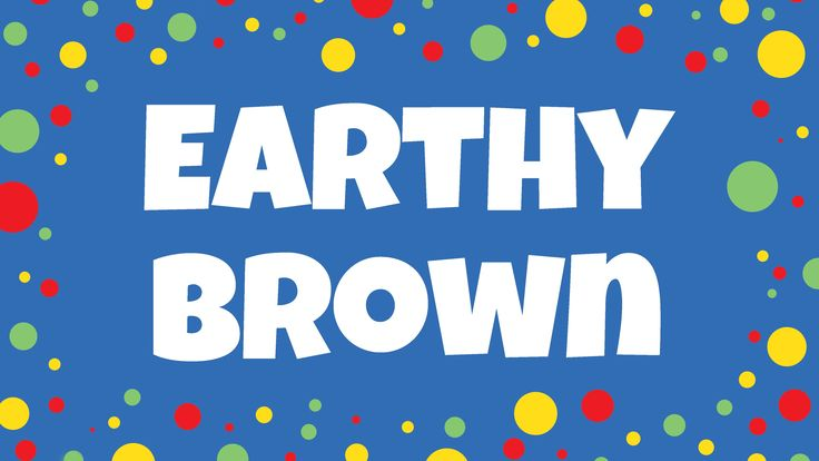 Brown song - Earthy Brown color song for kids. Sing and read along to achieve multi-sensory learning. See it, hear it, do it! Free song ideas and activities:...