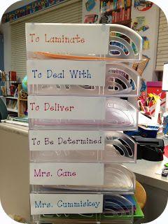 Clean Teacher's Desk Idea