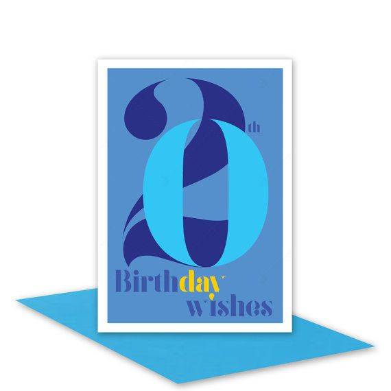 20th Birthday Wishes card for boy or man / 20 by stuARTconcepts