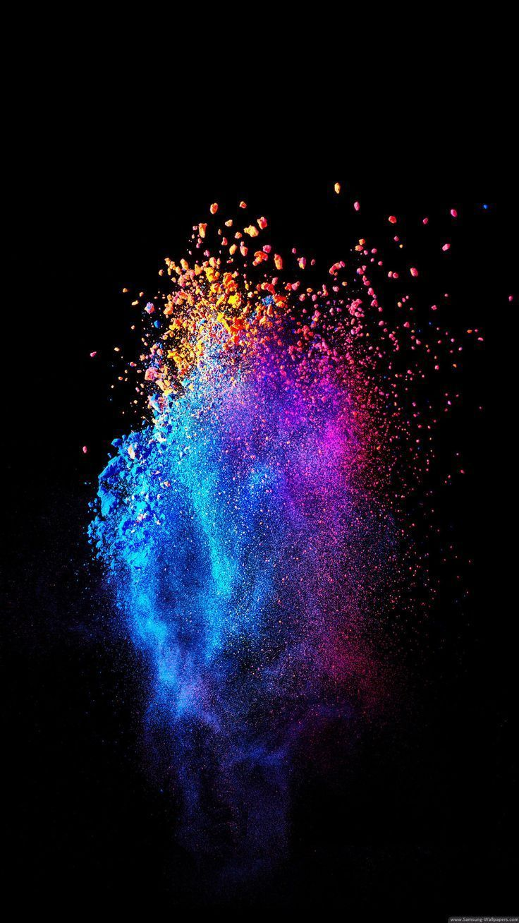 Galaxy Painting Wallpaper Fantasy Color Stock 10801920 Samsung