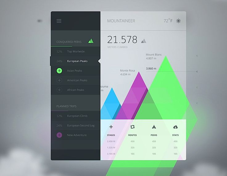 Creative UI Design by Cosmin Capitanu