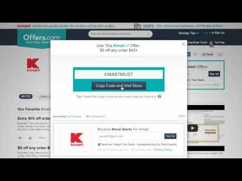 Kmart Coupon Code 2014 - How to use Promo Codes and Coupons for Kmart.com