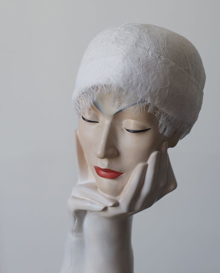 my first bridal cap.