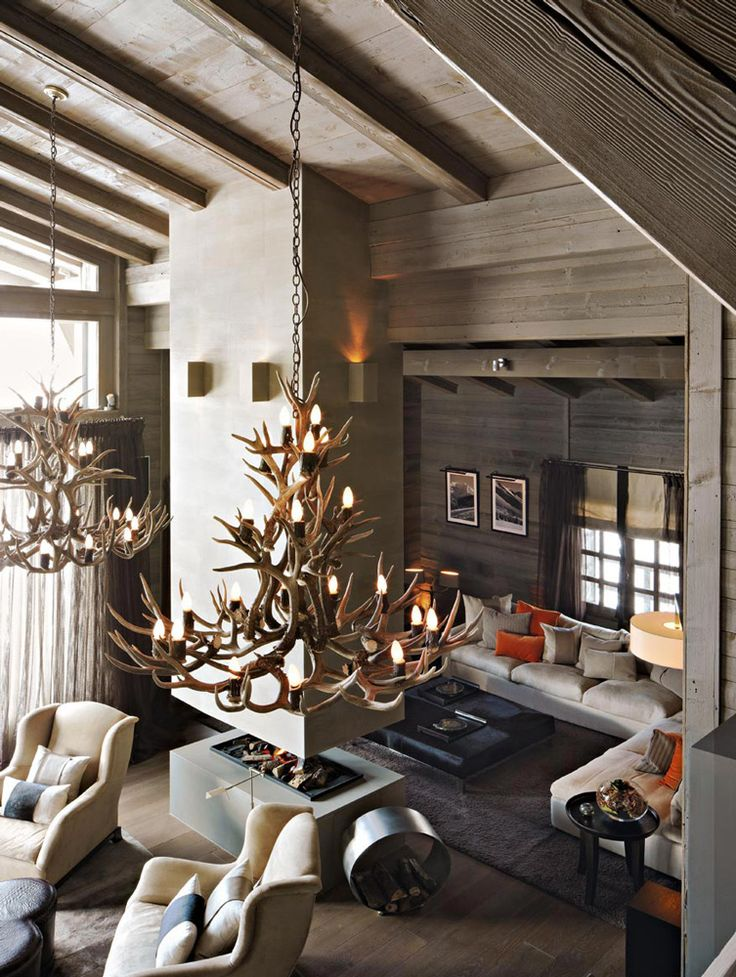 Living Room Design By Kelly Hoppen At The Ski Chalet In France Interiordesigner Bestinteriordesigners