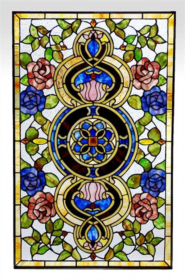 Victorian Stained Glass Patterns | Victorian Stained Glass Window Panel