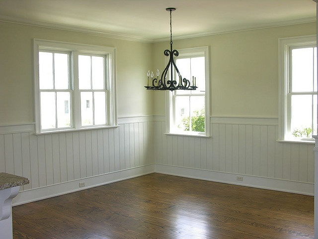 I love this space the potential it has not only to be for Dining room wainscoting ideas