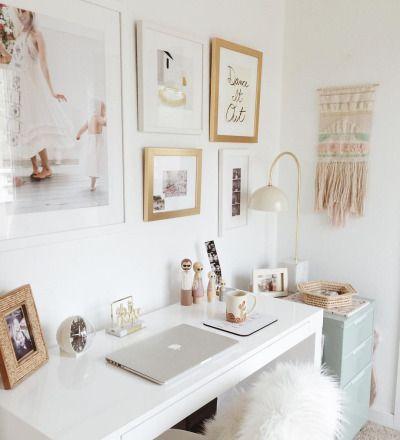 Best 25 cute desk ideas on pinterest cute desk for Cute home office ideas